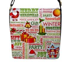 The Joys Of Christmas Flap Messenger Bag (l)  by AllThingsEveryone
