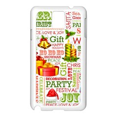 The Joys Of Christmas Samsung Galaxy Note 3 N9005 Case (white) by allthingseveryone