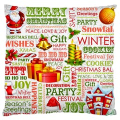 The Joys Of Christmas Large Flano Cushion Case (one Side) by allthingseveryone
