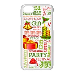 The Joys Of Christmas Apple Iphone 7 Seamless Case (white) by allthingseveryone
