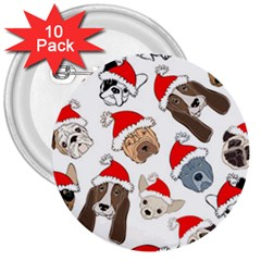Christmas Puppies 3  Buttons (10 Pack)  by AllThingsEveryone