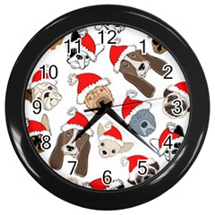 Christmas Puppies Wall Clocks (black) by AllThingsEveryone