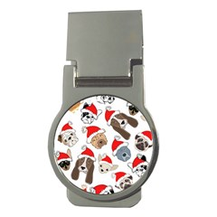 Christmas Puppies Money Clips (round)  by allthingseveryone