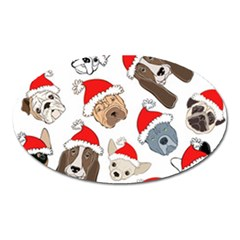 Christmas Puppies Oval Magnet by allthingseveryone