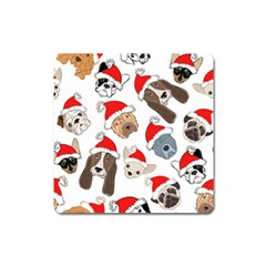 Christmas Puppies Square Magnet by AllThingsEveryone