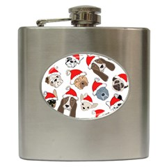 Christmas Puppies Hip Flask (6 Oz) by AllThingsEveryone