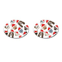 Christmas Puppies Cufflinks (oval) by allthingseveryone
