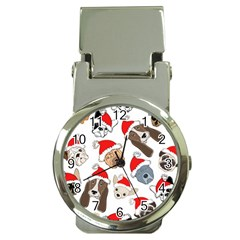 Christmas Puppies Money Clip Watches by AllThingsEveryone