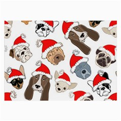 Christmas Puppies Large Glasses Cloth (2 Side) by AllThingsEveryone