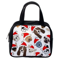 Christmas Puppies Classic Handbags (one Side) by AllThingsEveryone