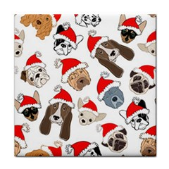 Christmas Puppies Face Towel by allthingseveryone