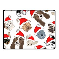 Christmas Puppies Fleece Blanket (small) by AllThingsEveryone