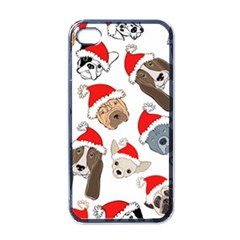 Christmas Puppies Apple Iphone 4 Case (black) by allthingseveryone