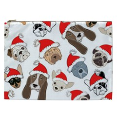 Christmas Puppies Cosmetic Bag (xxl)  by allthingseveryone