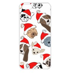 Christmas Puppies Apple Iphone 5 Seamless Case (white) by allthingseveryone