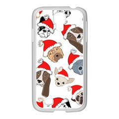 Christmas Puppies Samsung Galaxy S4 I9500/ I9505 Case (white) by allthingseveryone