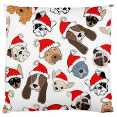 Christmas Puppies Standard Flano Cushion Case (one Side) by allthingseveryone