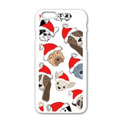 Christmas Puppies Apple Iphone 6/6s White Enamel Case by allthingseveryone