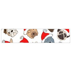 Christmas Puppies Small Flano Scarf by AllThingsEveryone