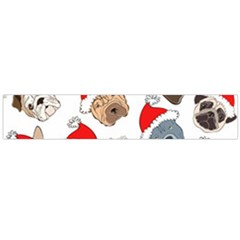 Christmas Puppies Large Flano Scarf  by AllThingsEveryone