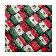 Mexican Flag Pattern Design Tile Coasters by dflcprints