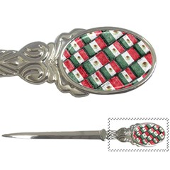 Mexican Flag Pattern Design Letter Openers by dflcprints