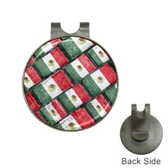 Mexican Flag Pattern Design Hat Clips With Golf Markers by dflcprints