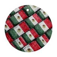Mexican Flag Pattern Design Round Ornament (two Sides) by dflcprints
