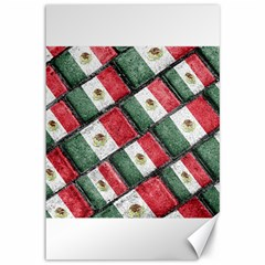 Mexican Flag Pattern Design Canvas 12  X 18   by dflcprints