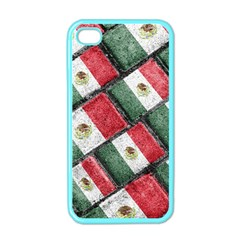 Mexican Flag Pattern Design Apple Iphone 4 Case (color) by dflcprints