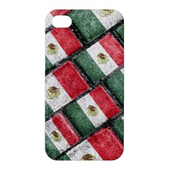 Mexican Flag Pattern Design Apple Iphone 4/4s Hardshell Case by dflcprints