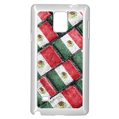Mexican Flag Pattern Design Samsung Galaxy Note 4 Case (white) by dflcprints