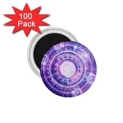 Blue Fractal Alchemy Hud For Bending Hyperspace 1 75  Magnets (100 Pack)  by jayaprime