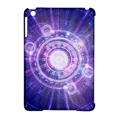 Blue Fractal Alchemy Hud For Bending Hyperspace Apple Ipad Mini Hardshell Case (compatible With Smart Cover) by jayaprime