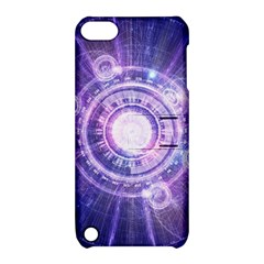 Blue Fractal Alchemy Hud For Bending Hyperspace Apple Ipod Touch 5 Hardshell Case With Stand by beautifulfractals