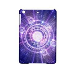 Blue Fractal Alchemy Hud For Bending Hyperspace Ipad Mini 2 Hardshell Cases by beautifulfractals