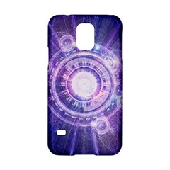 Blue Fractal Alchemy Hud For Bending Hyperspace Samsung Galaxy S5 Hardshell Case  by jayaprime