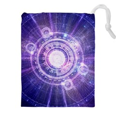 Blue Fractal Alchemy Hud For Bending Hyperspace Drawstring Pouches (xxl) by beautifulfractals