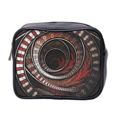 The Thousand And One Rings Of The Fractal Circus Mini Toiletries Bag 2 Side by jayaprime