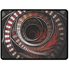 The Thousand And One Rings Of The Fractal Circus Fleece Blanket (large)  by jayaprime