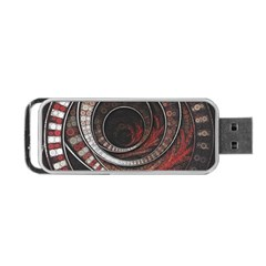 The Thousand And One Rings Of The Fractal Circus Portable Usb Flash (two Sides) by jayaprime