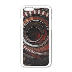 The Thousand And One Rings Of The Fractal Circus Apple Iphone 6/6s White Enamel Case
