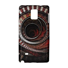 The Thousand And One Rings Of The Fractal Circus Samsung Galaxy Note 4 Hardshell Case by beautifulfractals