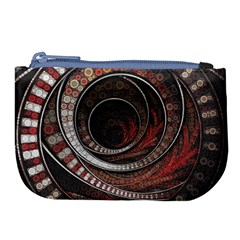 The Thousand And One Rings Of The Fractal Circus Large Coin Purse by jayaprime