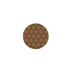 Red Green Flower Of Life Drawing Pattern 1  Mini Buttons by Cveti