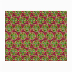 Red Green Flower Of Life Drawing Pattern Small Glasses Cloth (2 Side) by Cveti