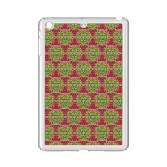 Red Green Flower Of Life Drawing Pattern Ipad Mini 2 Enamel Coated Cases by Cveti