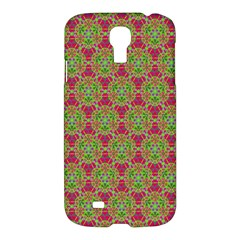 Red Green Flower Of Life Drawing Pattern Samsung Galaxy S4 I9500/i9505 Hardshell Case by Cveti