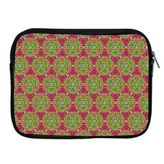 Red Green Flower Of Life Drawing Pattern Apple Ipad 2/3/4 Zipper Cases by Cveti