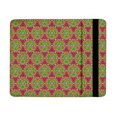 Red Green Flower Of Life Drawing Pattern Samsung Galaxy Tab Pro 8 4  Flip Case by Cveti